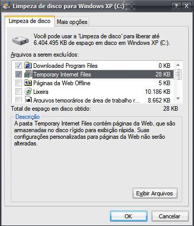 """""""Limpeza de Disco para manutenção de software"""""""